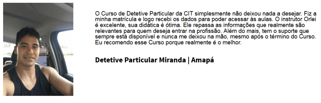 curso detetive privado